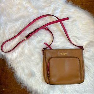 Kate Spade brown/pink leather crossbody bag